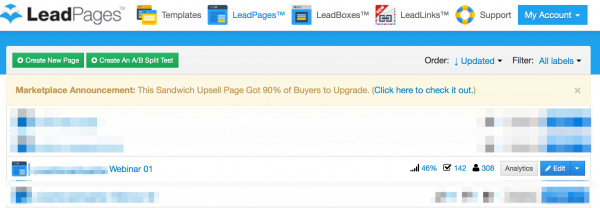 leadpages conversion